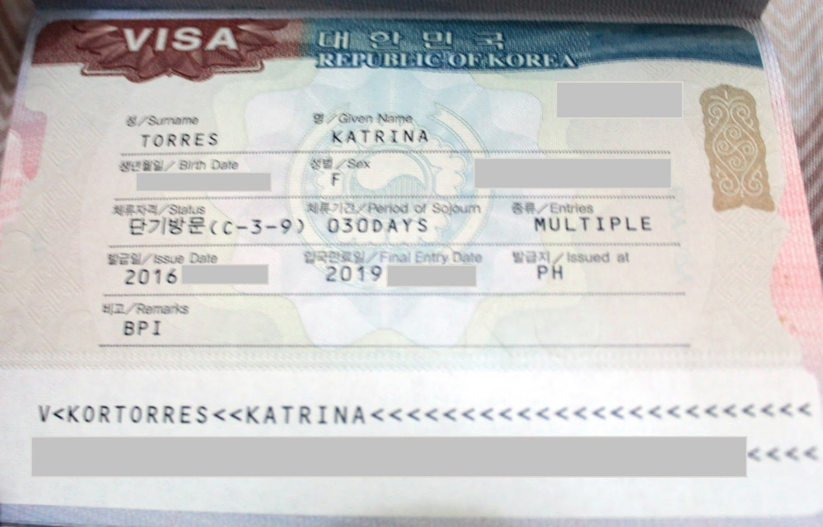 How i got a multiple entry korean visa excursionista yadclub Gallery